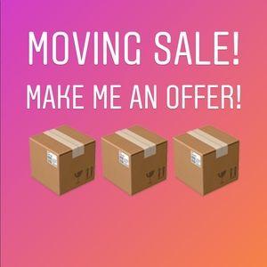 I'm moving! Make me an offer!